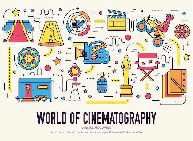 Ontwerpset van topkwaliteit voor de bioscoopindustrie