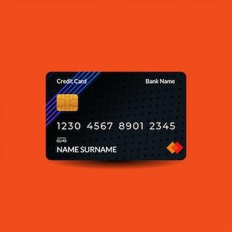 Ontwerpsjablonen voor creditcards met donkere kleuren en neon rgb-motieven