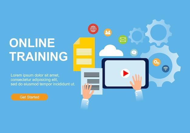 Ontwerpsjablonen voor webpagina's voor online training