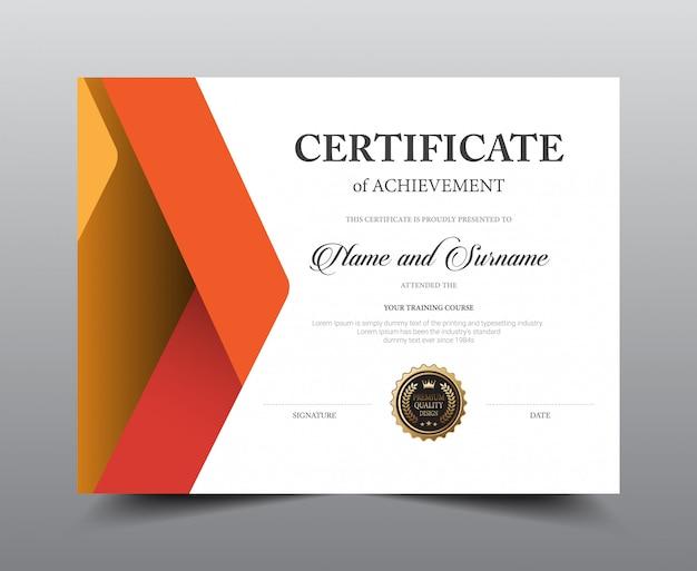 Ontwerpsjabloon certificaatindeling.