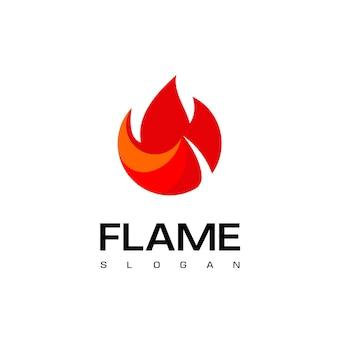 Ontwerpsjabloon cirkel vlam logo