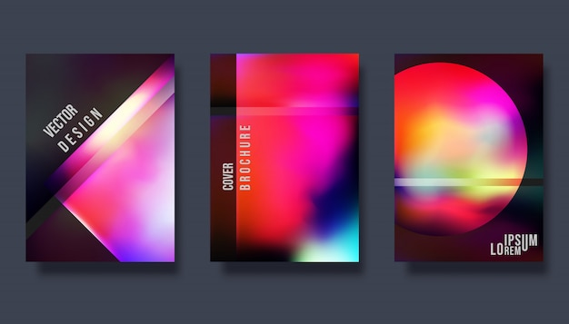 Ontwerpsjabloon dekking - kleurovergang kleurrijke achtergrond