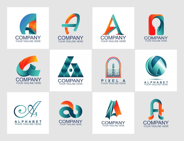 Ontwerpsjabloon met abstract logo