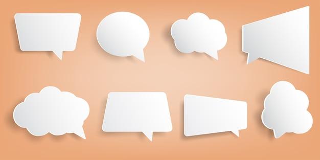 Ontwerpsjabloon tekstballon gesneden papier.