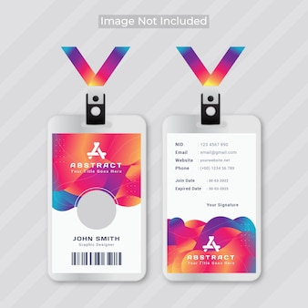 Ontwerpsjabloon voor abstracte identiteitskaart