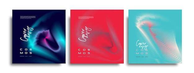 Ontwerpsjabloon voor abstracte kleurrijke covers