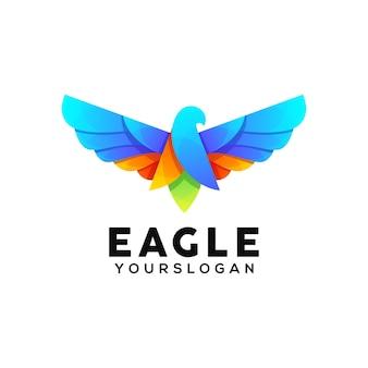 Ontwerpsjabloon voor adelaar kleurrijk logo