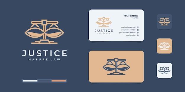Ontwerpsjabloon voor advocatenkantoor logo