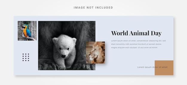 Ontwerpsjabloon voor banner wereld dierendag