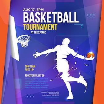 Ontwerpsjabloon voor basketbaltoernooien