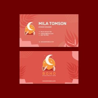 Ontwerpsjabloon voor boho-visitekaartjes