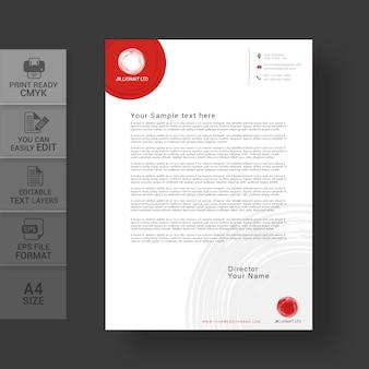 Ontwerpsjabloon voor briefpapier