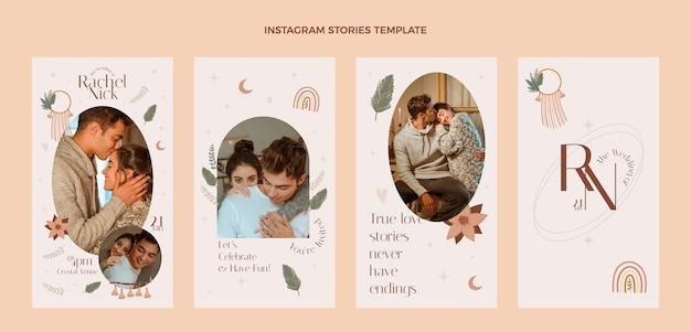 Ontwerpsjabloon voor bruiloftsverhalen