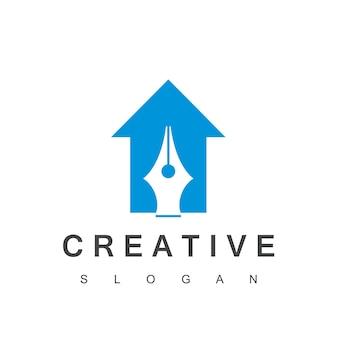 Ontwerpsjabloon voor creatief huislogo