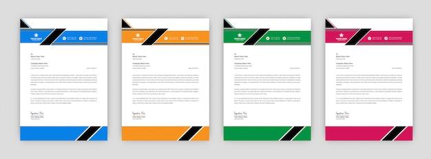 Ontwerpsjabloon voor creatieve zakelijke briefhoofd
