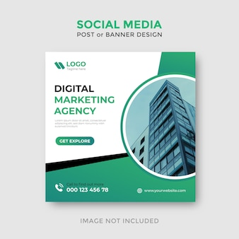 Ontwerpsjabloon voor digitale marketing social media post of banner