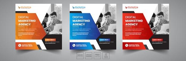 Ontwerpsjabloon voor digitale marketing sociale banner