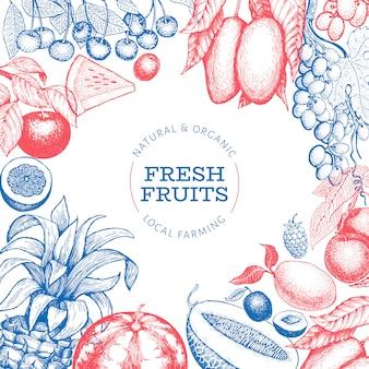 Ontwerpsjabloon voor fruit en bessen