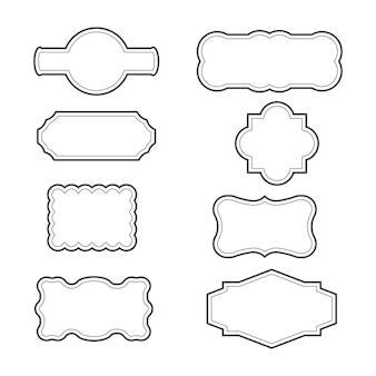 Ontwerpsjabloon voor grens vectorillustratie