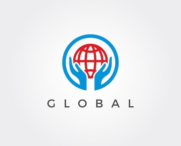 Ontwerpsjabloon voor het opslaan van aarde-logo