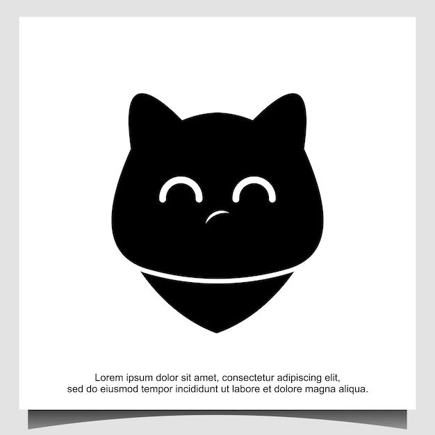 Ontwerpsjabloon voor kattenemoji-logo