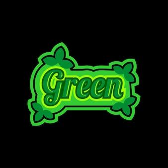 Ontwerpsjabloon voor kleurrijke tekst groen logo