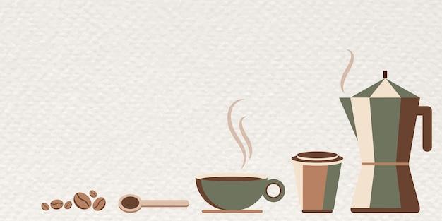 Ontwerpsjabloon voor koffiebanner