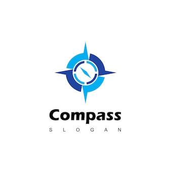 Ontwerpsjabloon voor kompas-logo