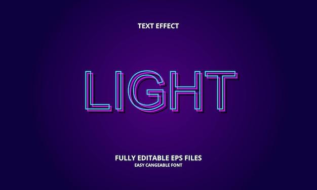 Ontwerpsjabloon voor licht teksteffect