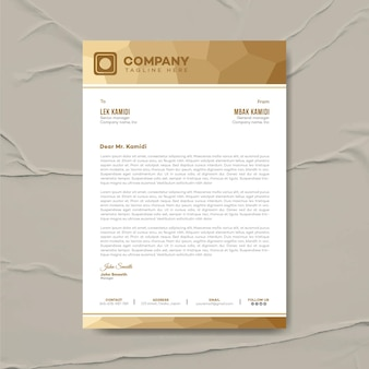 Ontwerpsjabloon voor modern zakelijk briefhoofd, huisstijl, zakelijk briefpapier, briefpapier