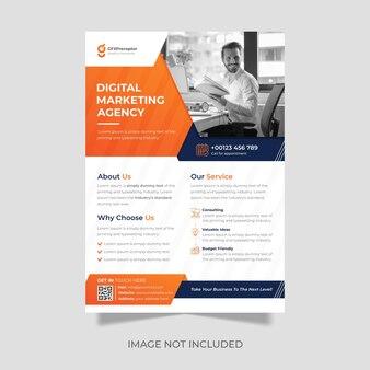 Ontwerpsjabloon voor moderne zakelijke en digitale marketing leaf