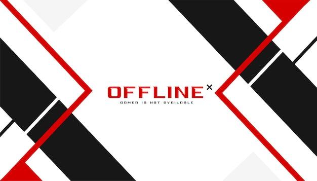 Ontwerpsjabloon voor offline gaming-banner