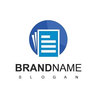 Ontwerpsjabloon voor papieren documentlogo
