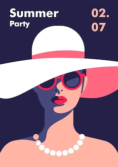 Ontwerpsjabloon voor poster voor zomerfeest