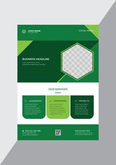 Ontwerpsjabloon voor promotionele creatieve zakelijke onderneming flyer