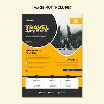 Ontwerpsjabloon voor reisfolder