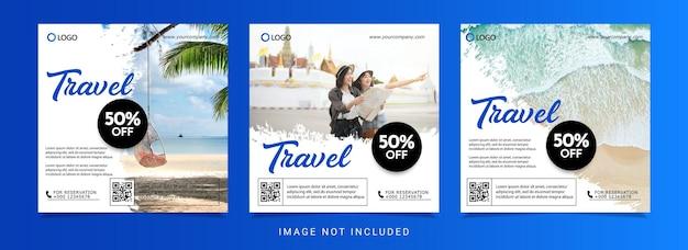 Ontwerpsjabloon voor reisvakantiebanner