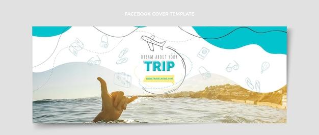 Ontwerpsjabloon voor reizen facebook-omslag