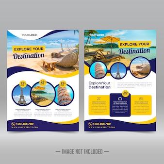 Ontwerpsjabloon voor reizen flyer