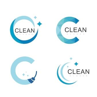 Ontwerpsjabloon voor schoon logo