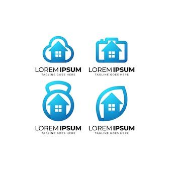 Ontwerpsjabloon voor smart home-logo