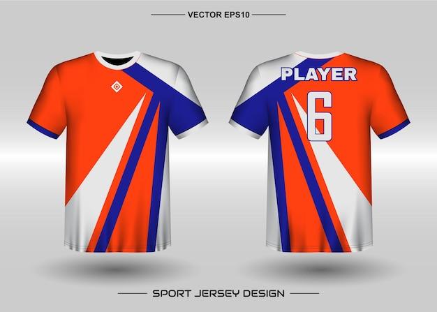 Ontwerpsjabloon voor sporttrui voor voetbalteam