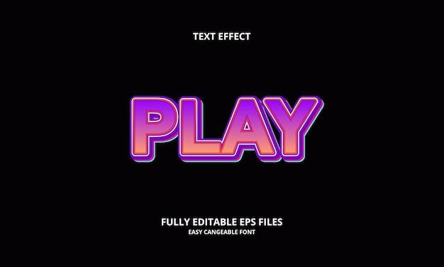 Ontwerpsjabloon voor teksteffect afspelen