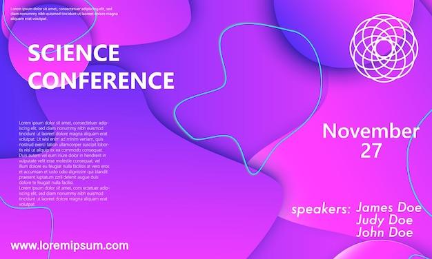Ontwerpsjabloon voor uitnodiging voor wetenschapsconferentie, lay-out.