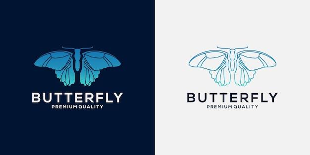 Ontwerpsjabloon voor vlinderlogo voor uw bedrijf
