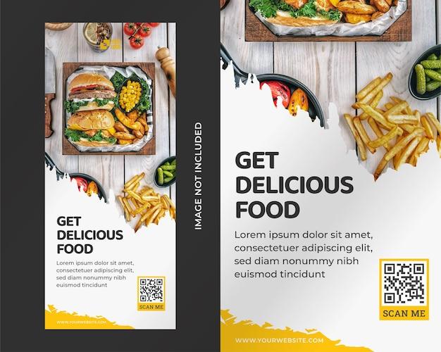 Ontwerpsjabloon voor voedsel roll-up banner