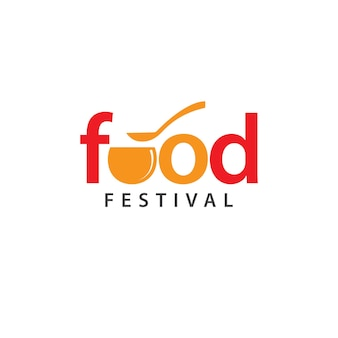 Ontwerpsjabloon voor voedselfestival-logo