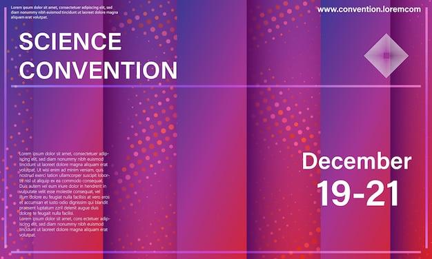 Ontwerpsjabloon voor wetenschapsconventie of conferentie rood en paars