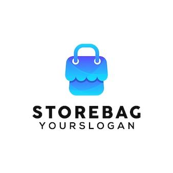 Ontwerpsjabloon voor winkeltas kleurrijk logo