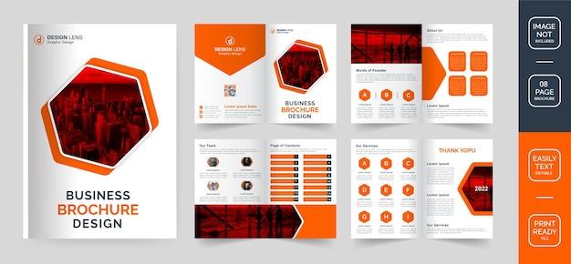 Ontwerpsjabloon voor zakelijke brochures